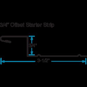 """3/4"""" Offset Starter Strip CAD Edgemaster Phillips Manufacturing"""