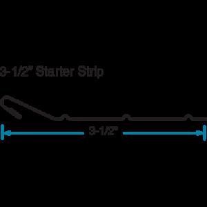 """3-1/2"""" Starter Strip CAD Edgemaster by Phillips Manufacturing"""