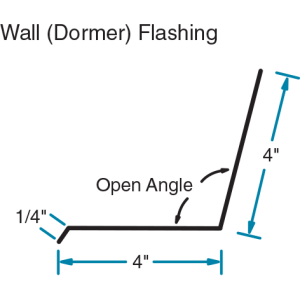 Wall (Dormer) Flashing Roofing Metals by Phillips Manufacturing
